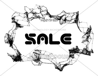Sale Triangle Background. Vector Illustration With Dot And Line Connection Stock Photo