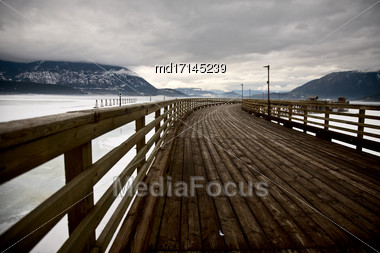 Salmon Arm British Columbia Shuswap Lakes And Tourism Stock Photo