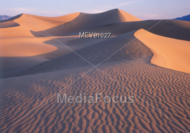 Sand Dunes in Death Valley, California, USA Stock Photo