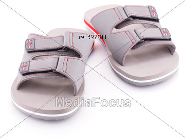 Sandals Isolated On White Background Stock Photo