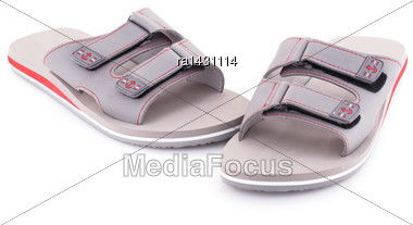 Sandals Isolated On White Background Stock Photo