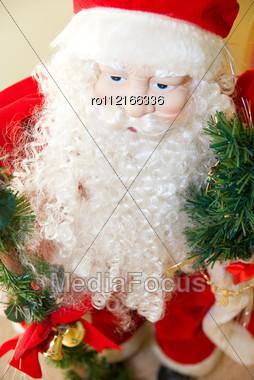 Santa Claus Closeup Toy Stock Photo