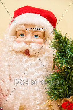 Santa Claus Closeup Toy Stock Photo