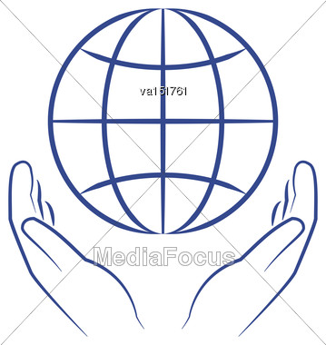 Save The Earth Environmental Protection Concept Icon Vector Illustration Stock Photo