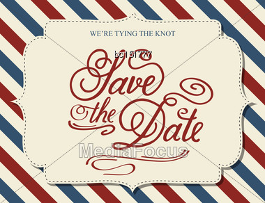 Save The Date, Illustrator Format Eps10 Stock Photo