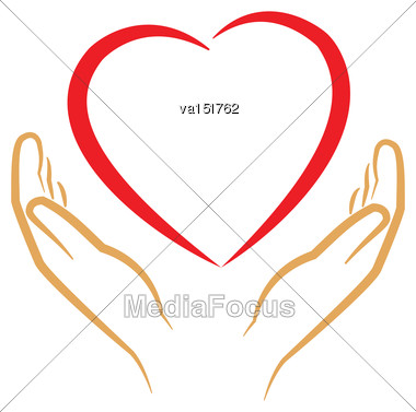 Save The Love Icon Vector Illustration Stock Photo