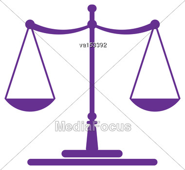 Scale Symbol Wisdom Decision Concept Vector Illustration Stock Photo