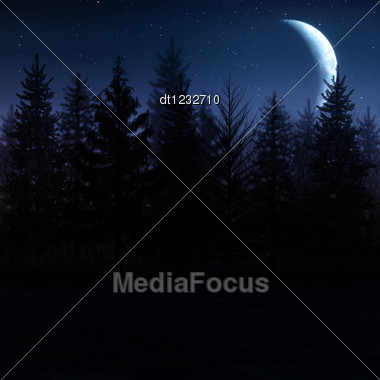Scary Landscape. Abstract Natural Backgrounds For Your Design Stock Photo