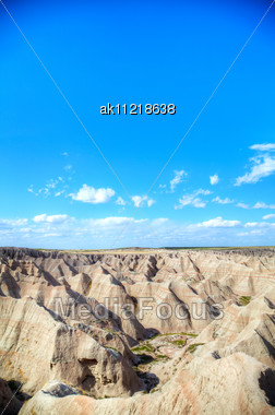 Scenic View At Badlands National Park, South Dakota, USA In The Day Light Stock Photo