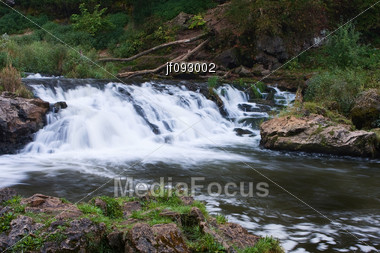 Scenic Waterfall With Silky A Water Affect Stock Photo