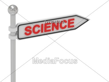 SCIENCE Arrow Sign With Letters Stock Photo