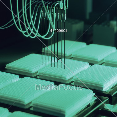 Science Technology - Lab DNA Test Stock Photo