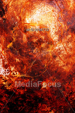 Scratched Metal Grunge Surface With Corrosion Stock Photo