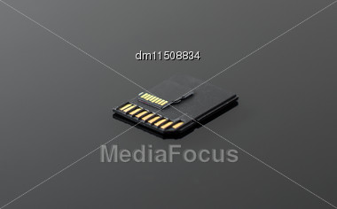 SD And Micro SD Card On Black Background Stock Photo