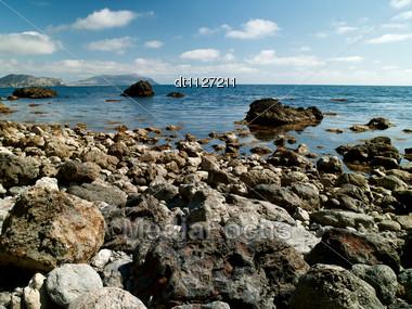 sea surface. Ukraine, Black Sea coastline Stock Photo