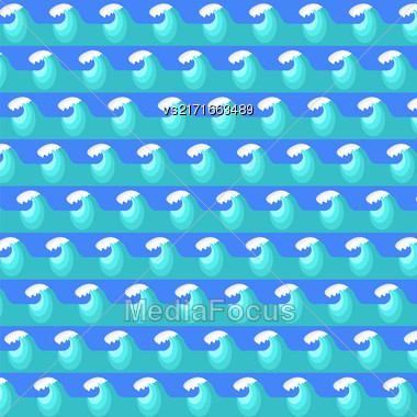 Sea Wave Background. Nature Blue Water Pattern Stock Photo