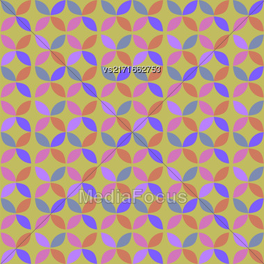 Seamless Circle Retro Pattern. Abstract Geometric Background Stock Photo