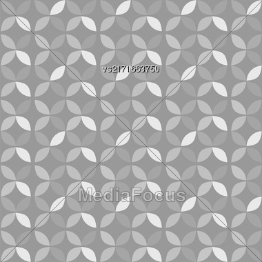 Seamless Circle Retro Pattern. Abstract Geometric Background Stock Photo