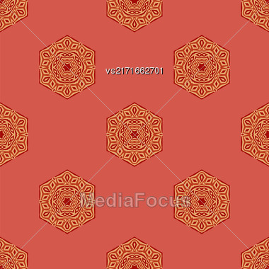 Seamless Creative Ornamental Colorful Pattern. Geometric Decorative Background Stock Photo