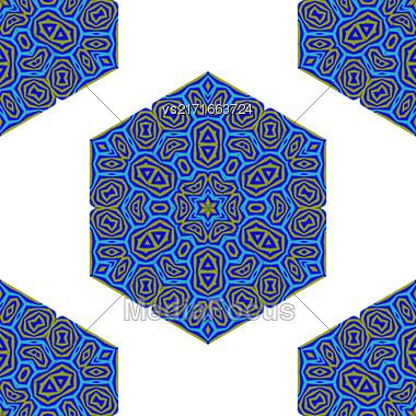 Seamless Creative Ornamental Colorful Pattern. Geometric Decorative Background Stock Photo