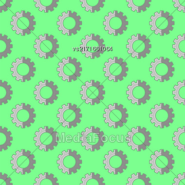Seamless Gear Pattern. Industrial Background. Mechanical Tool Stock Photo