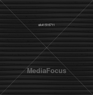 Seamless Geometric Background. Pattern With 3D Texture And Realistic Shadow.Textured Black Plastic Lines With Thickening Stock Photo