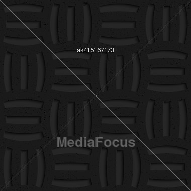 Seamless Geometric Background. Pattern With 3D Texture And Realistic Shadow.Textured Black Plastic Three Holes Pin Will Stock Photo