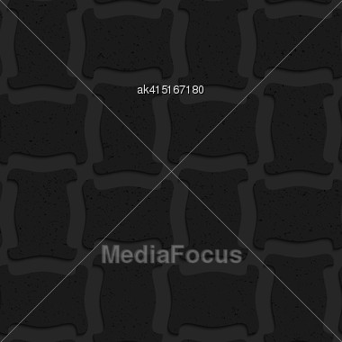 Seamless Geometric Background. Pattern With 3D Texture And Realistic Shadow.Textured Black Plastic Solid Spool Shape Stock Photo