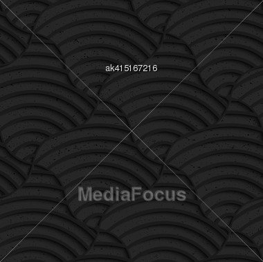 Seamless Geometric Background. Pattern With 3D Texture And Realistic Shadow.Textured Black Plastic Striped Pillows Stock Photo