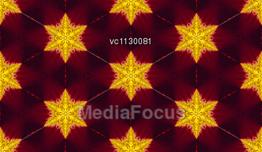 Seamless Pattern, Yellow Stars On Red Background Stock Photo