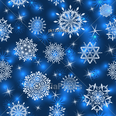 Seamless Snowflake Patterns. Fully Editable EPS 10 Vector Illustration With Transparency Stock Photo