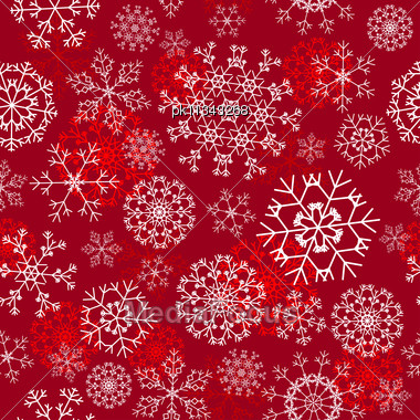 Seamless Snowflakes Background For Winter And Christmas Theme Stock Photo