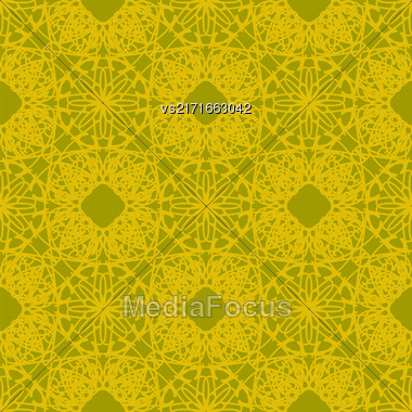 Seamless Texture On Brown. Element For Design. Ornamental Backdrop. Pattern Fill. Ornate Floral Decor For Wallpaper. Traditional Decor On Background Stock Photo