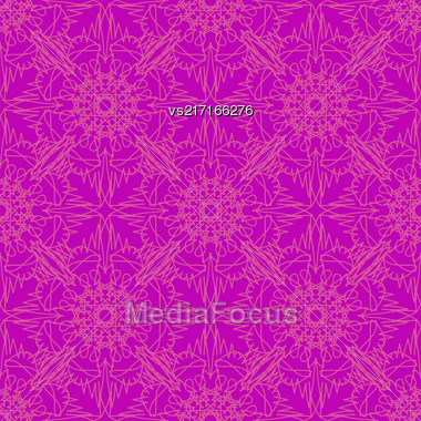 Seamless Texture On Pink. Element For Design. Ornamental Backdrop. Pattern Fill. Ornate Floral Decor For Wallpaper. Traditional Decor On Pink Background Stock Photo