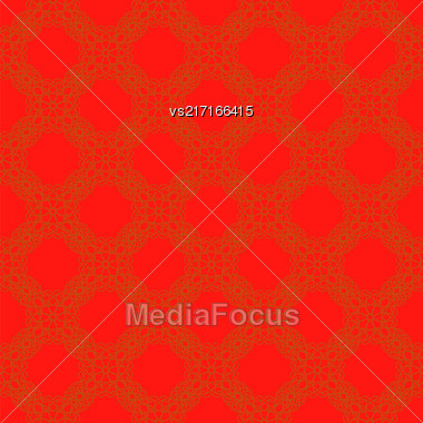 Seamless Texture On Red. Element For Design. Ornamental Backdrop. Pattern Fill. Ornate Floral Decor For Wallpaper. Traditional Decor On Background Stock Photo