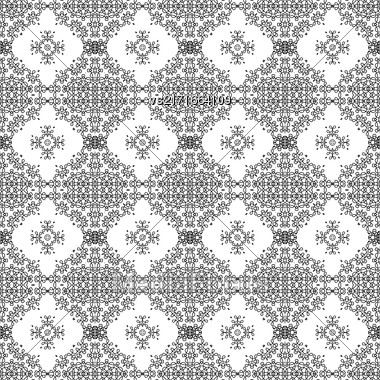 Seamless Texture On White. Element For Design. Ornamental Backdrop. Pattern Fill. Ornate Floral Decor For Wallpaper. Traditional Decor On White Background Stock Photo
