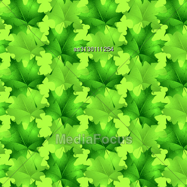 Seamless Wallpaper Pattern From Abstract Smooth Forms Stock Photo