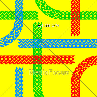 Seamless Wallpaper Tire Tracks Pattern Illustration Vector Background Stock Photo