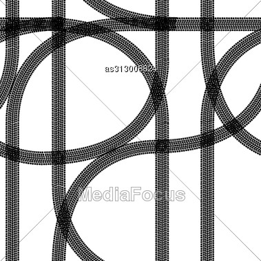 Seamless Wallpaper Winter Tire Tracks Pattern Illustration Vector Background Stock Photo