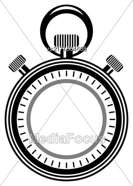 Second Timer Icon Isolated On White Background. Watch Logo Stock Photo