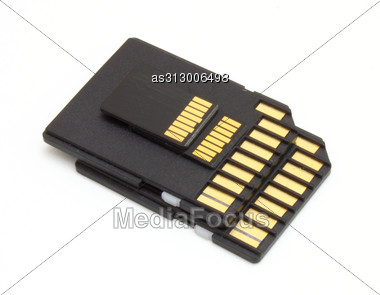Secure Digital Memory Cards Stock Photo