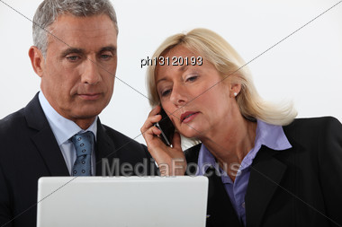 Senior Business Couple Stock Photo