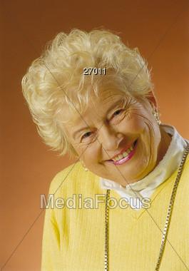 Senior Woman with Beautiful Smile Stock Photo