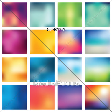 Set Of Abstract Backgrounds Blurred. Vector Illustration Stock Photo
