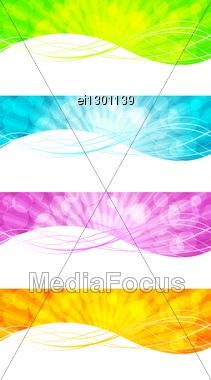 Set Of Abstract Multi Colored Banners (eps 10) Stock Photo