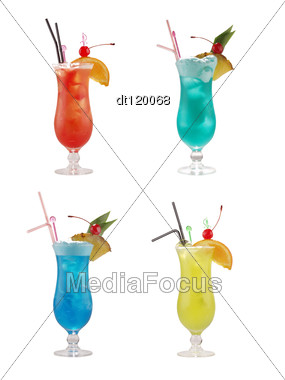 Set Of Alcoholic Coktails Stock Photo