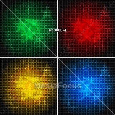Set Of Bright Backgrounds With Stars (eps 10) Stock Photo
