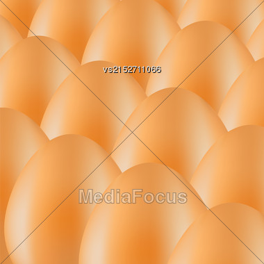 Set Of Brown Organic Eggs. Eggs Background Stock Photo