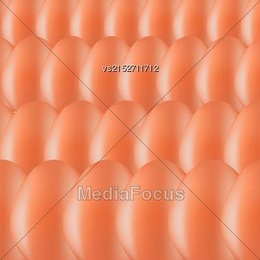 Set Of Brown Organic Eggs. Eggs Background Stock Photo