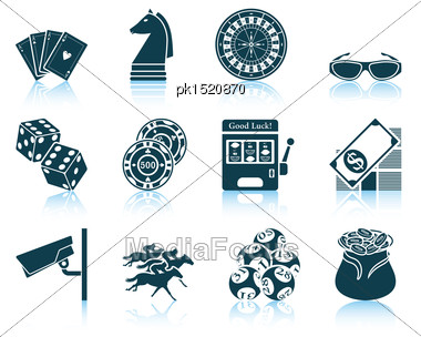 Set Of Casino Icons. EPS 10 Vector Illustration Without Transparency Stock Photo